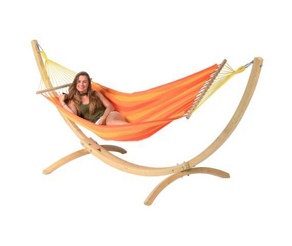 Hängemattenset Single 'Wood & Relax' Orange