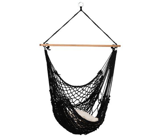 Hängesessel Single 'Rope' Black