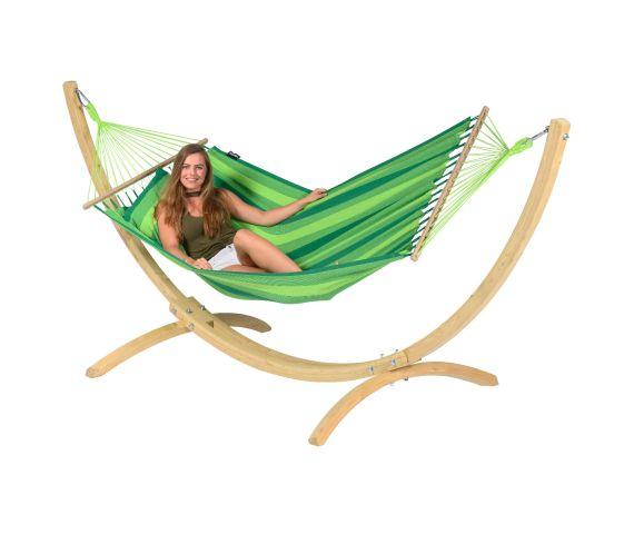 Hängemattenset Single 'Wood & Relax' Green
